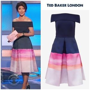 "Ted Baker ""Hollii"" marina mosaic dress 0 (US 2)"